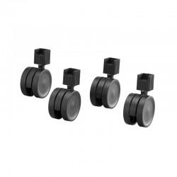 Roulettes noir pour échelle (x4)-Elfa